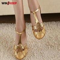 New 2017 Stylish Sexy Women Dancing Salsa Shoes Gold Silver High Heel Satin Latin Ballroom Dancing