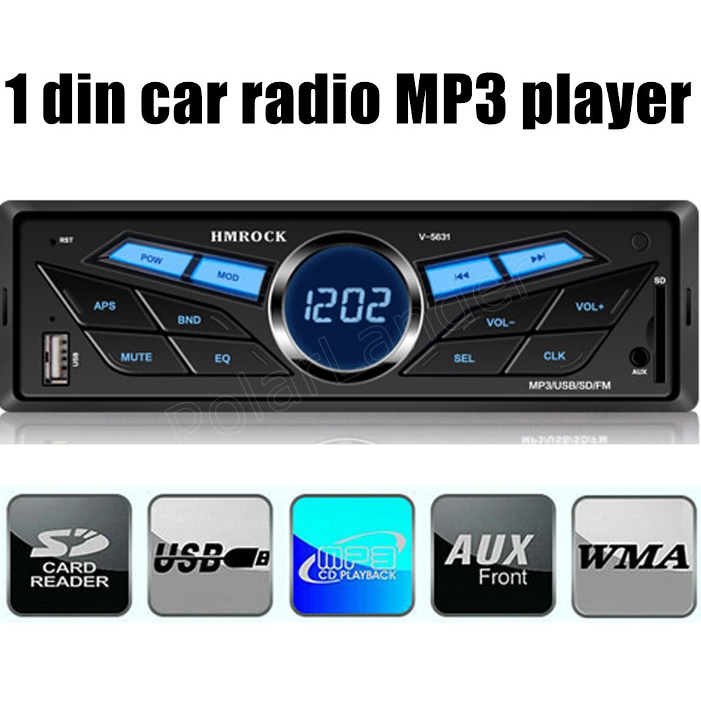 hot sale FM Car Radio 1 din 12V without Bluetooth Panel Auto Audio Stereo TF MP3 Player AUX USB new
