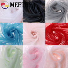 Meetee 5Meter 1.6M Width Soft Netting Lace Fabric Mosquito Net DIY Handmade Material for Clothing Curtain Skirt Accessory FA201