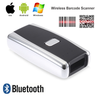 Mini Bar Code Scanner Bluetooth 1D 2D Wireless Mobile Barcode Reader For Ipad IPhone Android Tablet PC Portable Hand Scanner