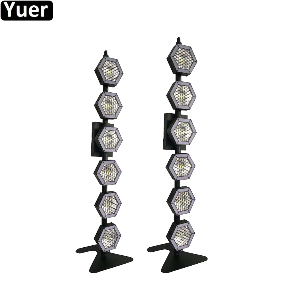 2Pcs/Lot LED Retro Flash Lights 162Pcs SMD RGB Tricolor LEDs COB Lamp Beads 6X100W Warm White / Cold White Lights Flightcase