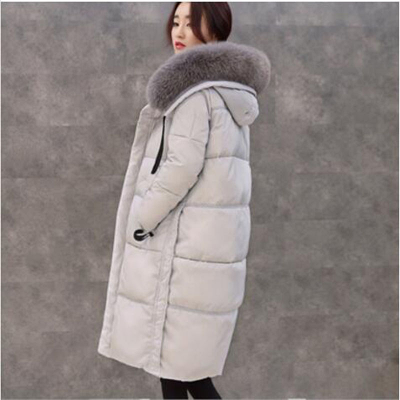 2017 New Women Winter duck down Jacket Coats thickening Parkas Real high quality Fur Collar Female Warm Hooded Outwear AC344