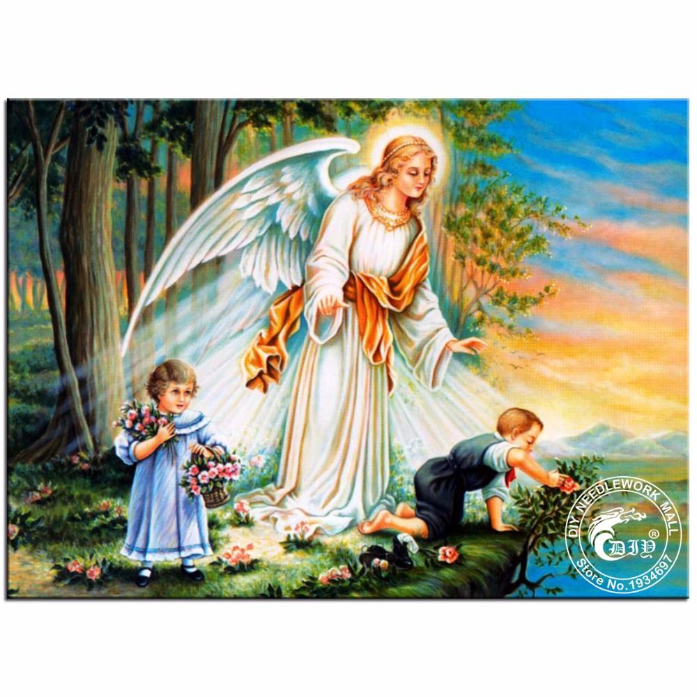 Popular Paintings Guardian Angels-Buy Cheap Paintings ...