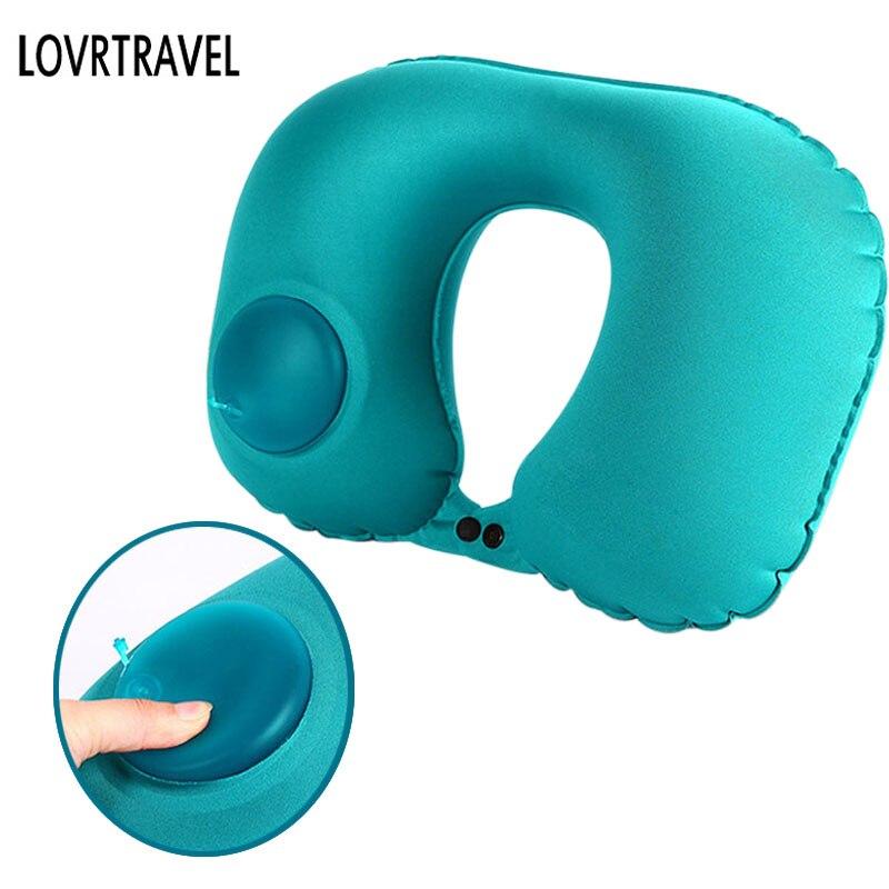 LOVRTRAVEL Gonflable Avion Sommeil Oreillers Support de Cou Voyage oreiller Sieste Col de L'utérus Oreillers Coussin D'air Cuscino Collo Aereo