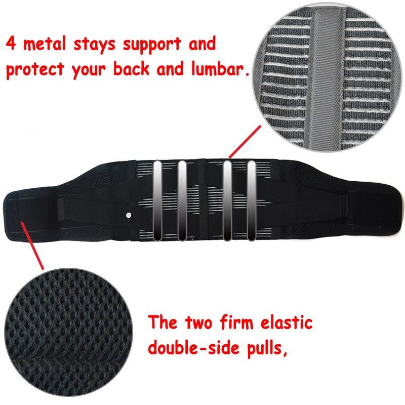 New Elastic Adjustable Orthopedic Posture Corrector Brace Lower Back Waist Trimmer Belt Lumbar Support Belt Corset for Men Women 3