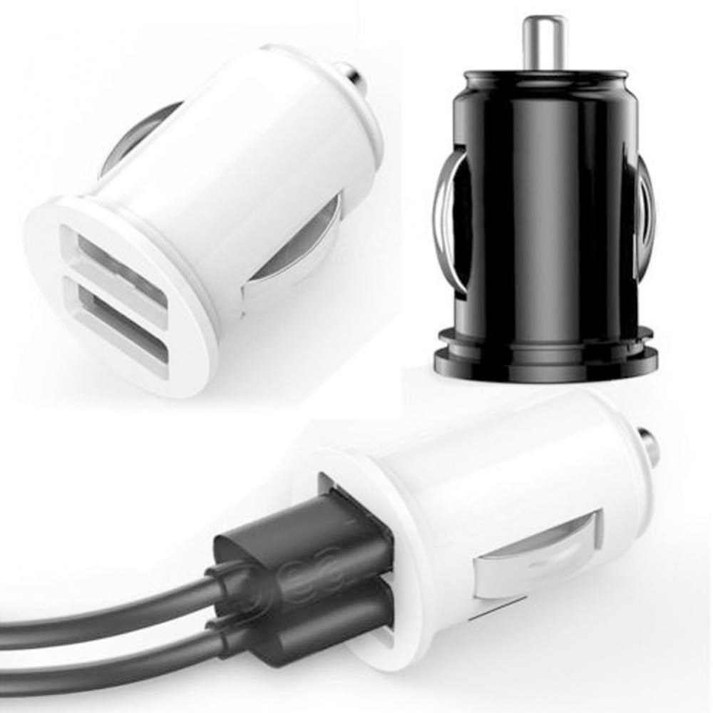 <font><b>Car</b></font> Mini Dual USB <font><b>Car</b></font> <font><b>Charger</b></font> <font><b>Cigarette</b></font> Lighter <font><b>12V</b></font> 2 Port Adapter Universal Fast <font><b>Car</b></font> <font><b>Charger</b></font> Power Adapter <font><b>Car</b></font> Styling image