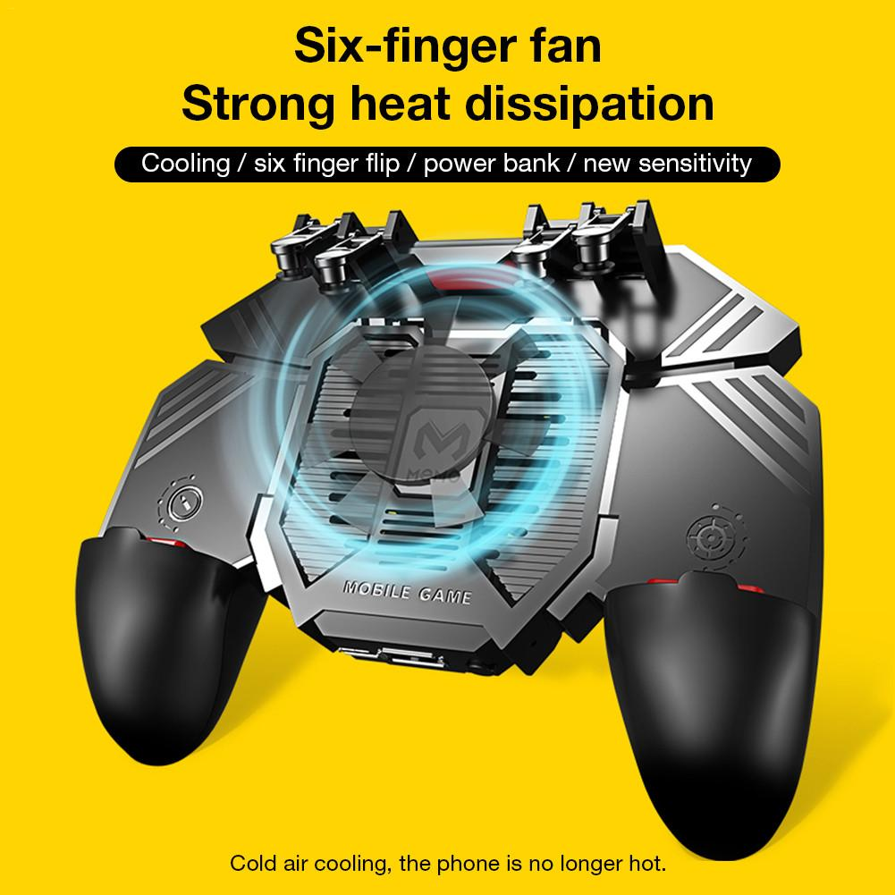 For MEMO New PUBG Helper AK77 Mobile Phone Radiator Water-cooled Fan Six Fingers PUGB Handle Power Bank Games Accessories