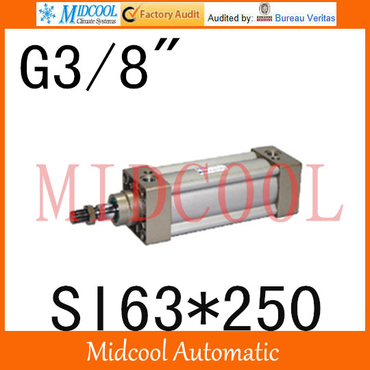 SI series ISO6431Standard cylinder SI63*250 port 3/8 bore 63mm Adjustable cylinder si series iso6431standard cylinder si160 200 port 3 4 bore 160mm adjustable cylinder
