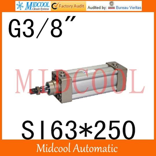 "SI series ISO6431Standard cylinder SI63*250  port 3/8"" bore 63mm Adjustable cylinder"