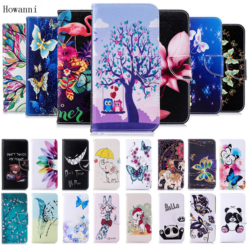 Howanni <font><b>Flip</b></font> Leather <font><b>Case</b></font> For <font><b>Samsung</b></font> Galaxy A10 A20 A20E A30 A40 A50 A70 <font><b>M10</b></font> M20 M30 <font><b>Case</b></font> Cover Colorful Wallet Stand Phone Bag image