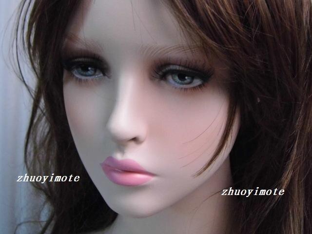 Mannequin femme réaliste en fibre de verre de haute qualité tête factice buste tête de mannequin tête de perruque - 2