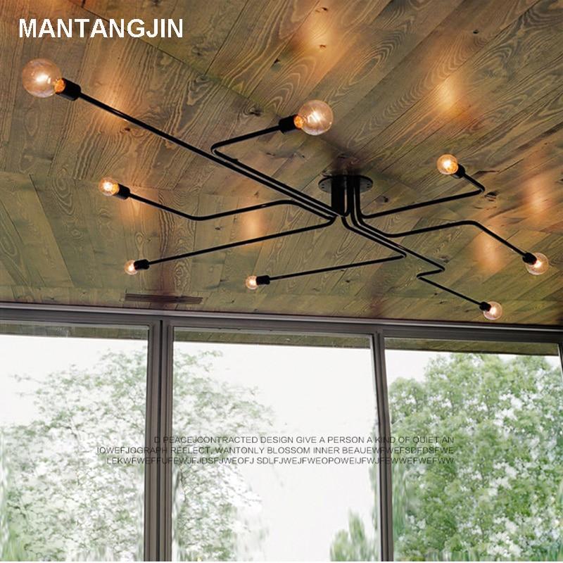 Deckenleuchten Vintage Decke Lichter Für Home Beleuchtung Leuchte Mehrere Schmiedeeisen Decken Lampe Wohnzimmer Lamparas De Techo