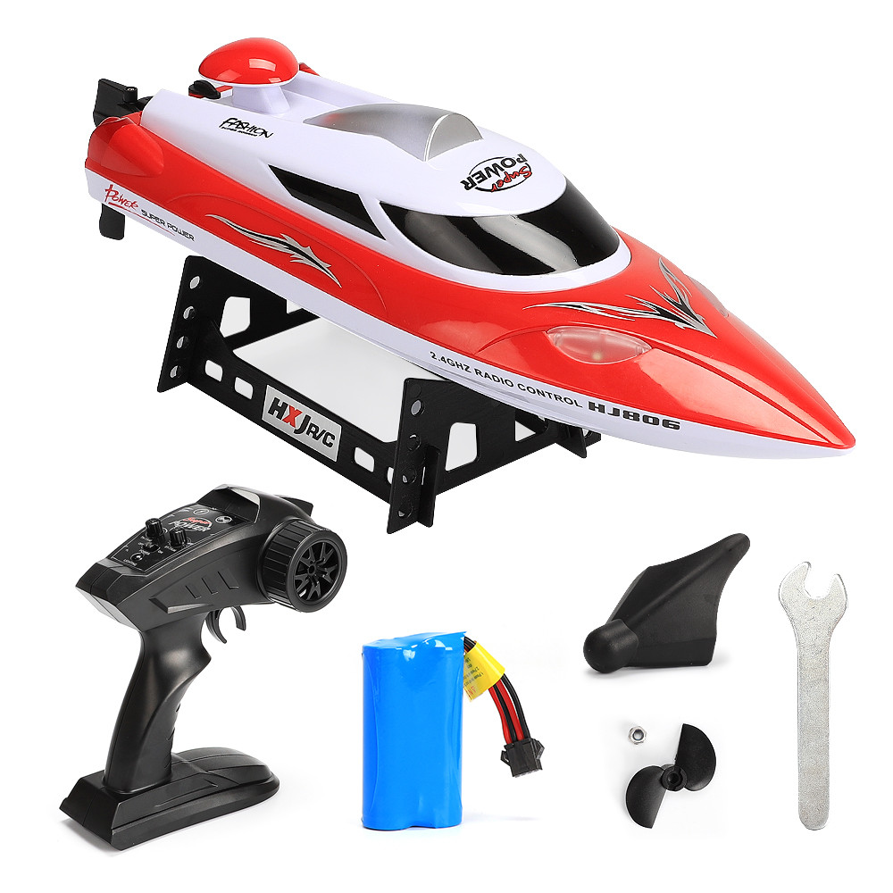 купить HJ806 RC Boat High Speed 35km/h 200m Control Distance Electric Fast RC Ship Model Bestuurbare Boot Speedboat Remote Control Boat недорого