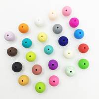 Silicone Beads 50pc Round Montessori Toys Non-toxic Food Grade/BPA FREE(10mm-15mm)Kids Chew Toys Bite DIY Teething Beads