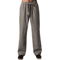Top Quality Gray Chinese Men S Kung Fu Trousers Cotton Linen Pants Wu Shu Clothing Size