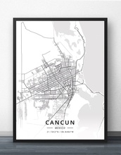 Cancun Guadalajara Merida Mexico City Monterrey Puebla City Tampico Tijuana Mexico Map Poster