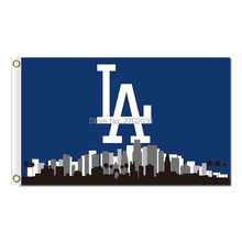 LA Design City Country Los Angeles Dodgers Flag World Series Champions Baseball Fans Team Banners Flags 3x5ft Blue Banner(China)