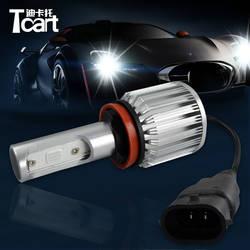 Tcart 2 шт. Универсальный Автомобильный светодиодный Противотуманные огни авто COB Противотуманные фары светодиодный налобный фонарь 30 Вт