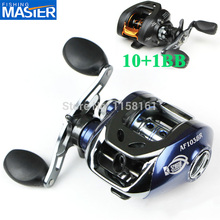 Blue/Black Low Profile Baitcasting 10+1 BB left or right Fishing Reel 6.3:1 Bait casting reel Hand Spinning lure Fishing Tackle
