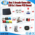 2 players DIY Arcade game kit  for 520 in 1 PCB board CGA & VGA output with jamma wire harness/joystick/buttons/coin acceptor