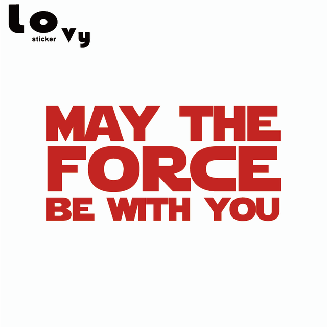 Star Wars May The Force Be With You Vinyl Wall Sticker