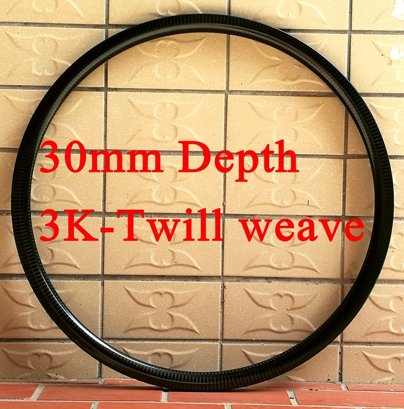 3K Twill weave 700C Road bike 45 35 30mm carbon rim clincher wheels