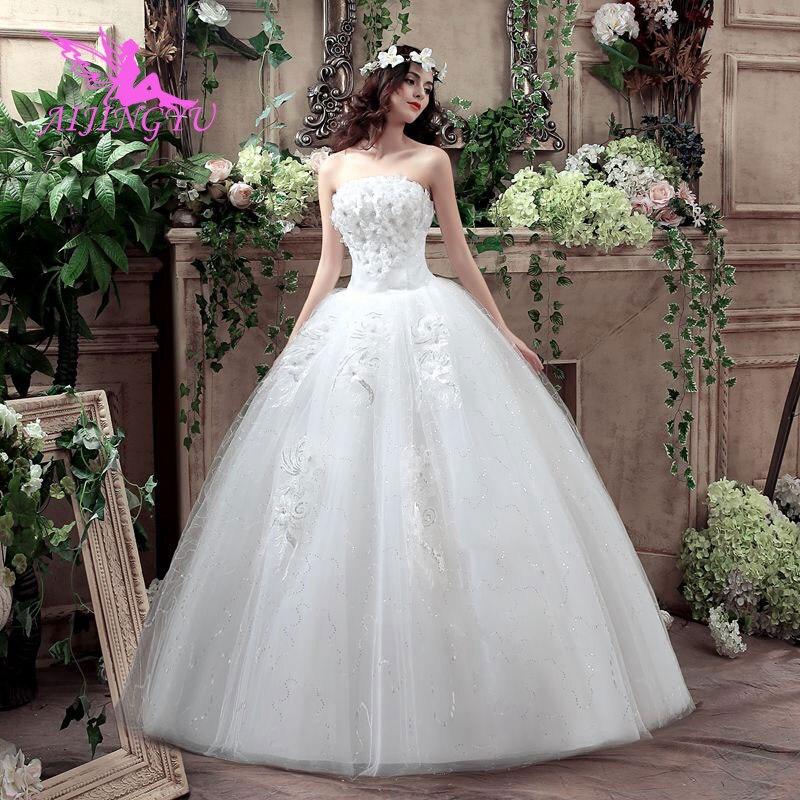 Robes AIJINGYU robe de mariée 2018 mariage robe de mariée courte élégante WK849