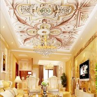 Free Shipping 3D photo wallpaper 3D European style wallpaper mural corridor wall painting ceiling mural wallpaper