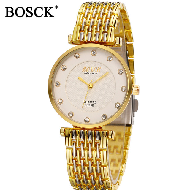 Fashion Ladies Ultra Thin Watch Lady Top Luxury Brand Bosck Gold Watch Women Diamond Rhinestone Relogio Feminino Luxo Bracelet