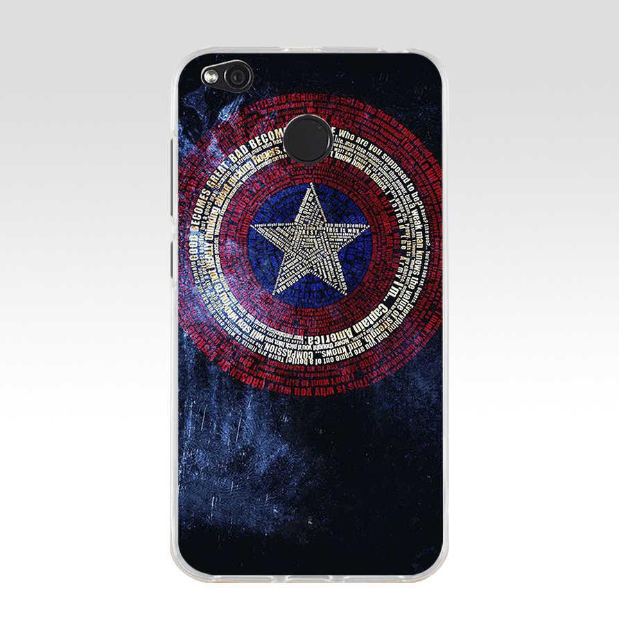 155 Marvel Avengers Kaptan Amerika Kalkan TPU Yumuşak silikon kılıf için Xiao mi kırmızı mi 4X 4A 5A 6A 6 NOT 5a pro mi a1 8 lite kapak
