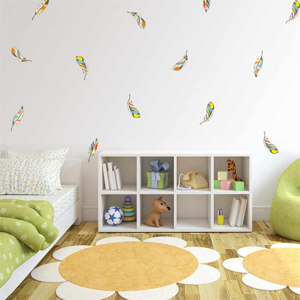 Creative רב צבע פרחי קיר מדבקת ספה טלוויזיה רקע חדר שינה עיצוב הבית קיר אמנות מדבקות מדבקות טפט HX0710