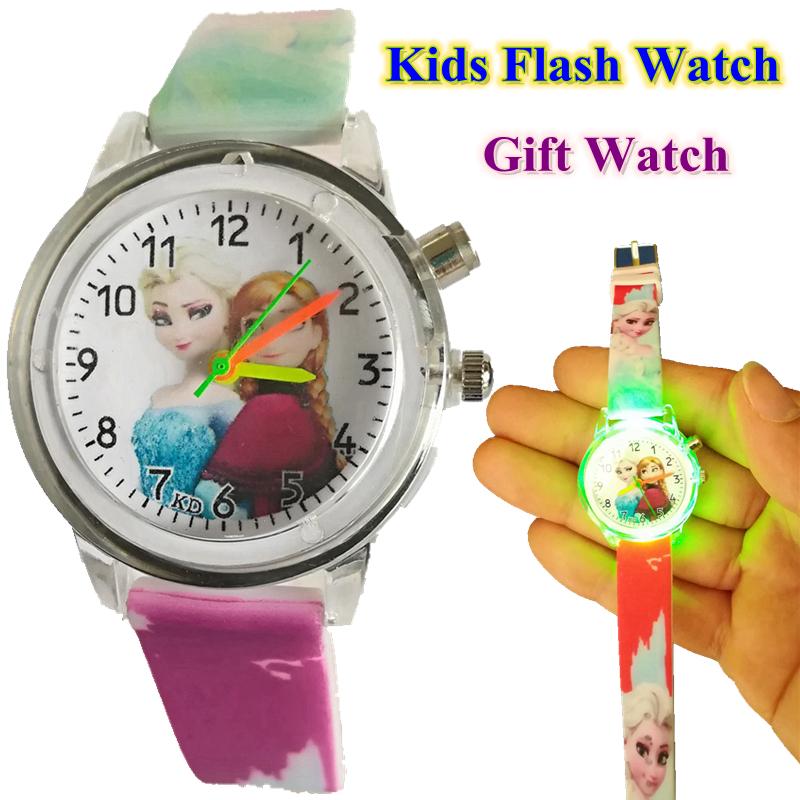 Children's Watches Kids Children Girls Boys Flash Led Light Queen Princess Soft Rubber Watches Fashion Girls Students Birthday Party Gift Watches Online Shop