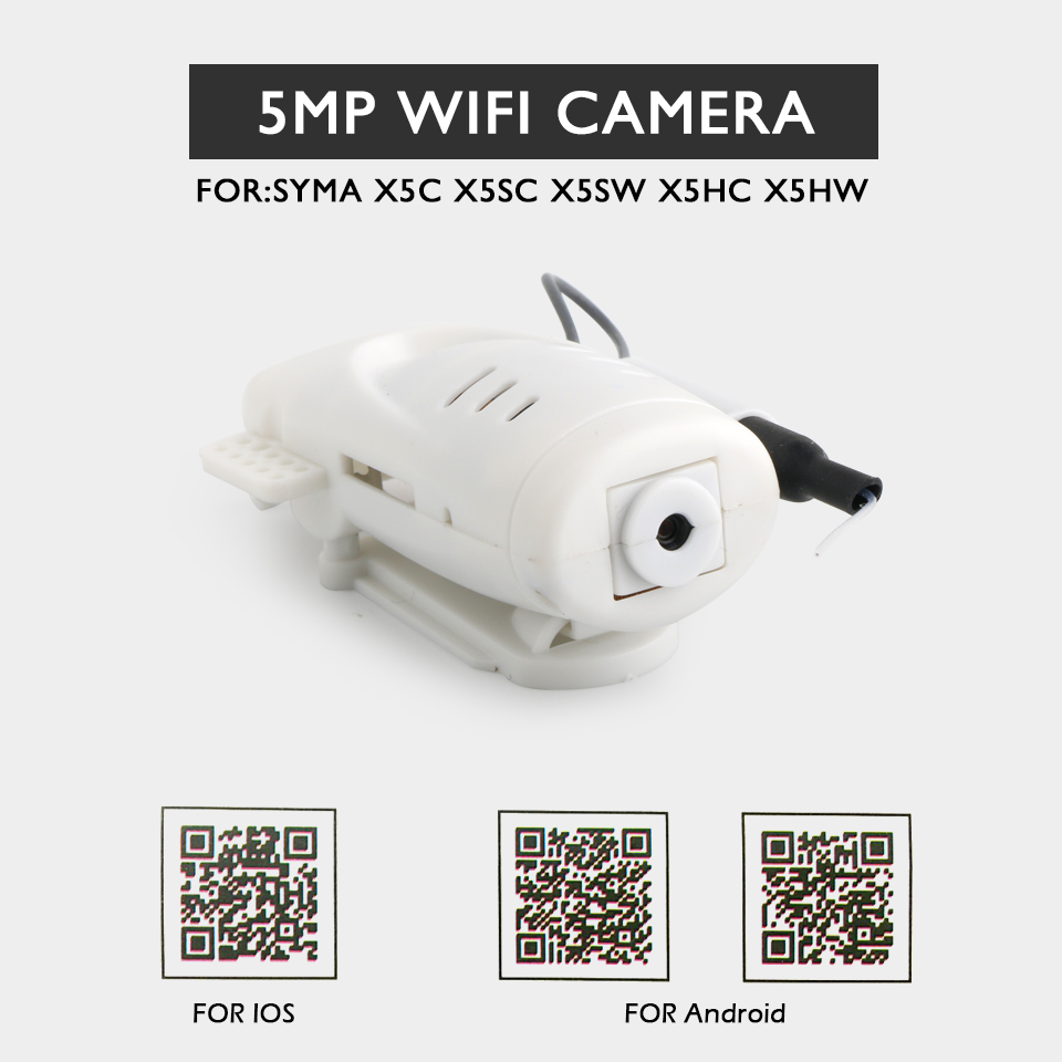 FOR Syma X5SW X5SC X5HC X5HW X5C 2.4G 4CH FPV RC Drone Spare Parts 5MP WIFI CAMERA RC Helicopter Toys syma x5c x5sc x5hc x5hw spare parts universal aerial camera 4g memory card card reader set