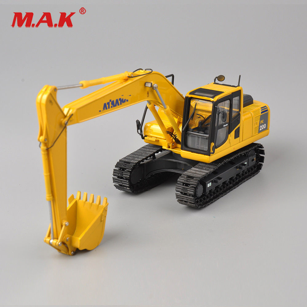 Kids toys Collection Diecast 1/50 Scale PC200 Excavator Truck Vehicle Model Toy Alloy Diecast Model Engineering Vehicles Model