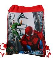 12pcs Lot Baby Shower Gift Bags Kids Favors Birthday Party Decoration Drawstring Supplies Spider Man Non