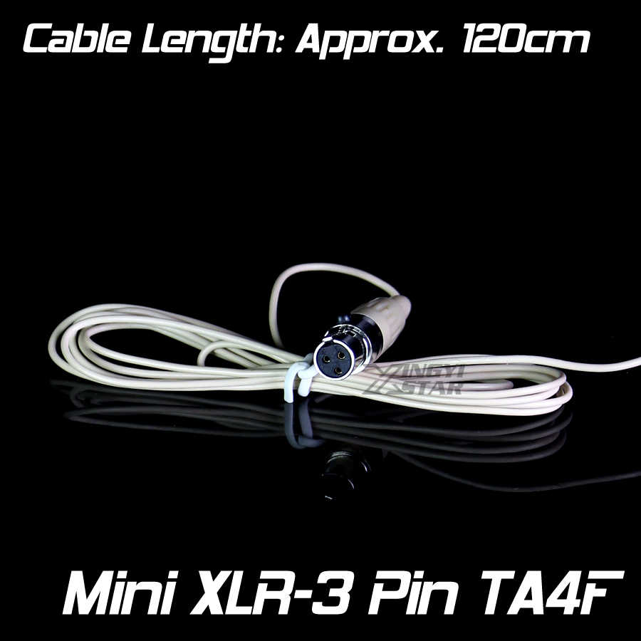 مصغرة XLR 3 دبابيس TA3F رئيس محمولة Earset المكثف سماعة ميكروفون ل شمشون اللاسلكية Beltack الارسال UT1 ST2 T32M AL300