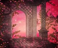 Фон для фотосъемки свадьбы с изображением красной розы