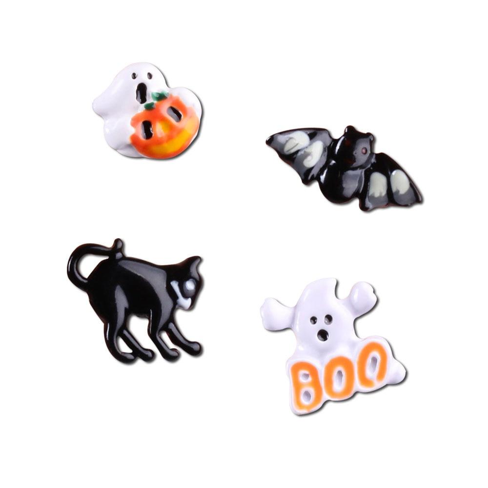 Gothic Funny Bat Pumpkin Cat Ghost Stud Earrings Fashion