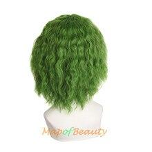 Beauty cosplay wig 14inch kinky curly hair