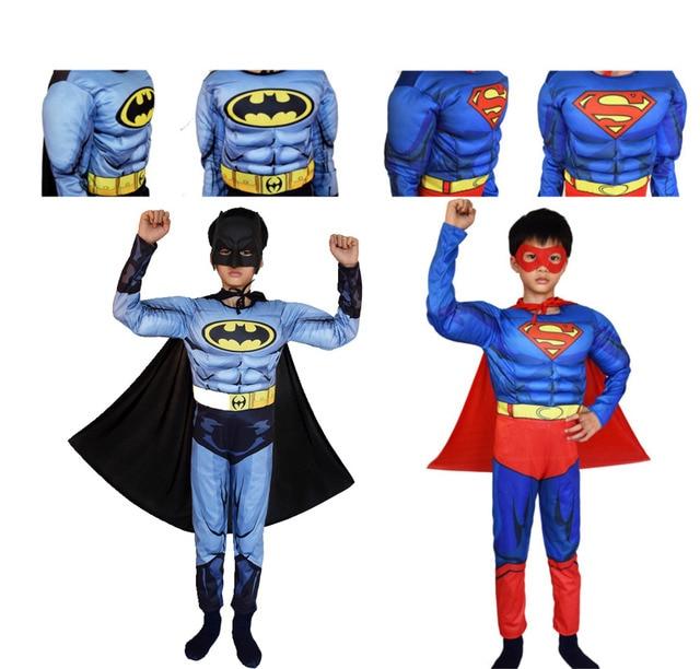 Superman Batman Film Classique Muscle Enfant costume d'halloween pour  enfants Justice league infantiles super