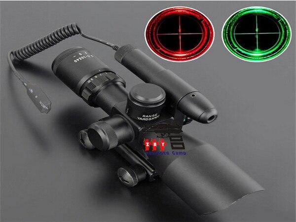 2.5 10 x 40 hijau laser merah hijau dot penampakan teleskop optik