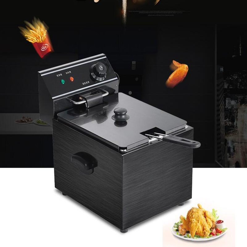 8L Electric blast furnace cylinder thickening fryer Grill Fried chicken Fried dough sticks furnace fries machine free shipping duplex cooking noodles furnace malatang electric fryer blast multi function equipment