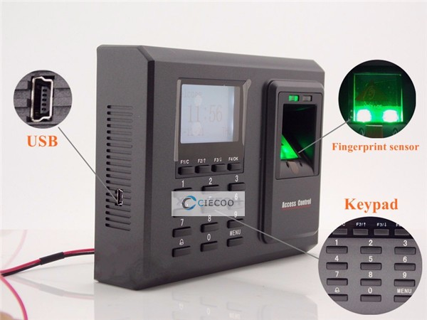 ZK TCP/IP fingerprint access control with keypad, ZK fingerprint access control
