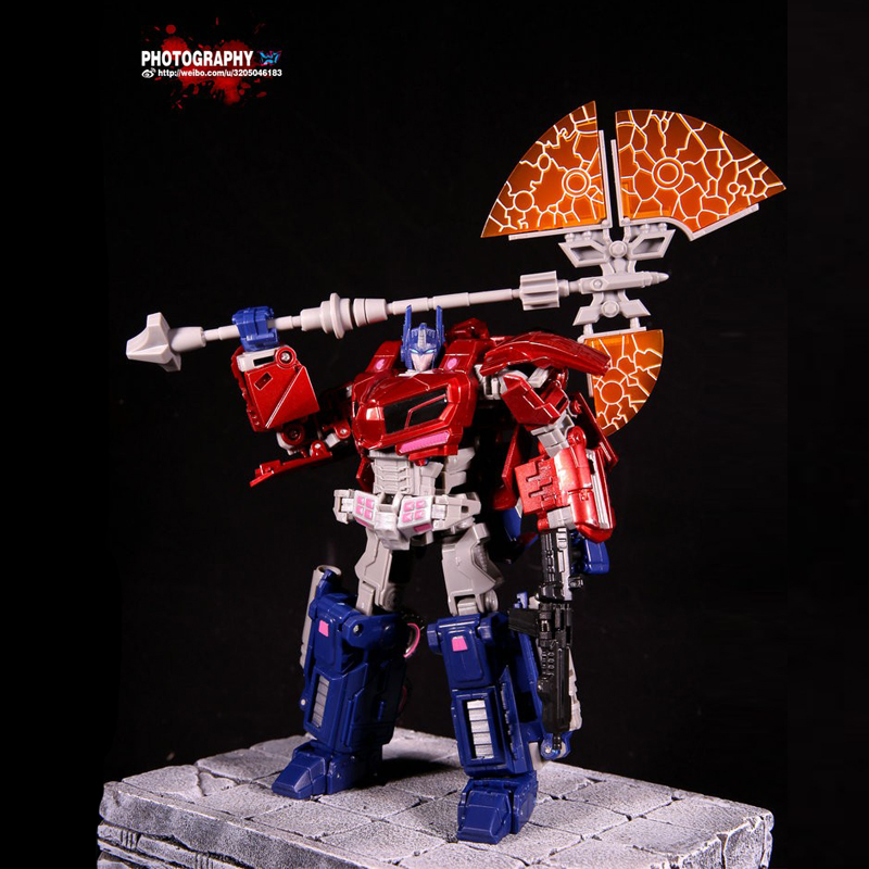 (In STOCK)Toys KO Enlarged Edition WFC Red Optimus Prime Voyager Class