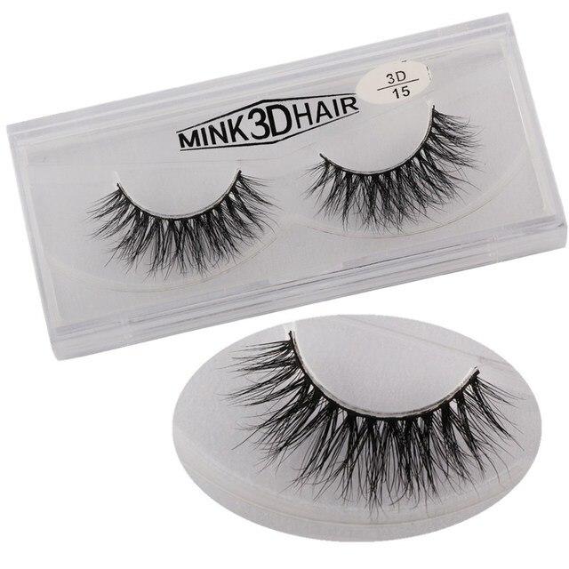 Maannge 1 Pair Thick Mink Eyelashes 3d Mink Lashes Handmade Full
