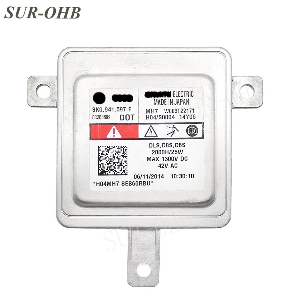 Red sticker Original D8S 8K0941597F Xenon HID W003T22171 D8R Headlight Ballast for Amarok 2013 8K0941597 Macan