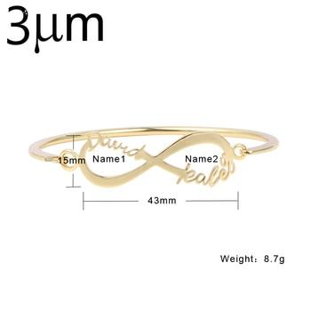 3UMeter Custom Name Bangles Infinity bracelet bangle for women bangle watch women Personalized Bracelets Jewelry for Women avengers infinity war thanos bracelet the power soul stone bangles for women men jewelry gifts