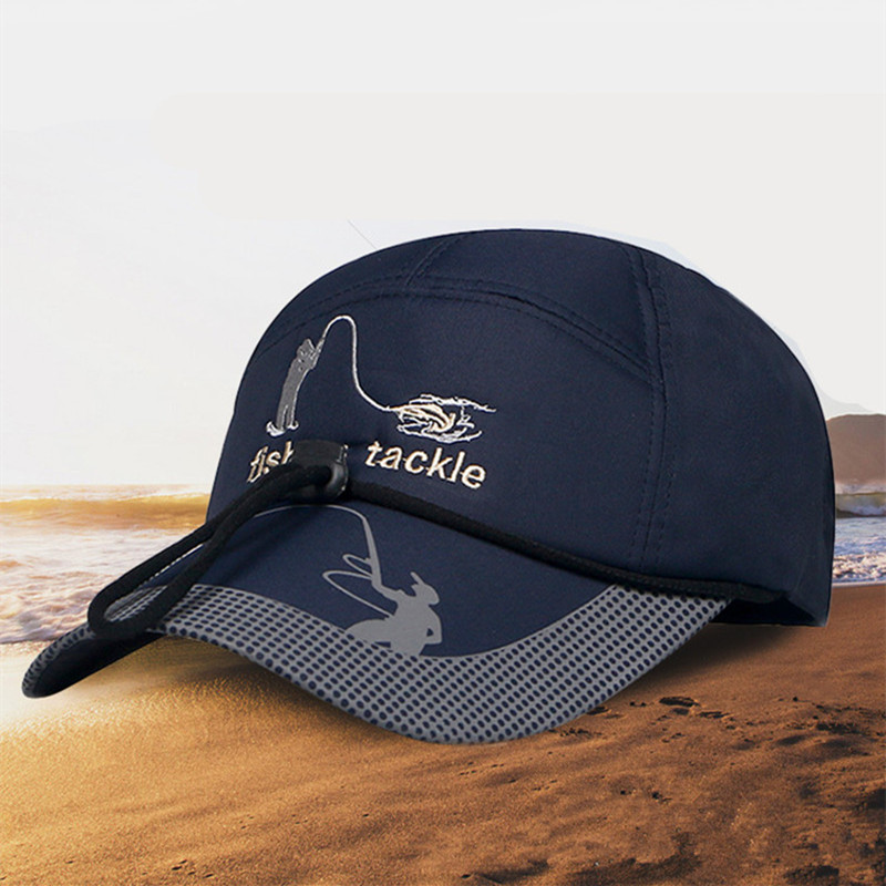 Intellective New Arrival Brim Of Hat With Reflective Design Fish Bone Embroidery Breathable Fishing Cap Mountaineering Anti Uv Fishing Hat Utmost In Convenience