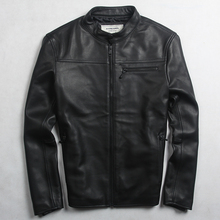Avirexmen Мужская мода Натуральная кожа куртка из натуральной овечьей кожи стройная фигура кожаная куртка Мужская Весна Повседневная байкерская куртка мужской