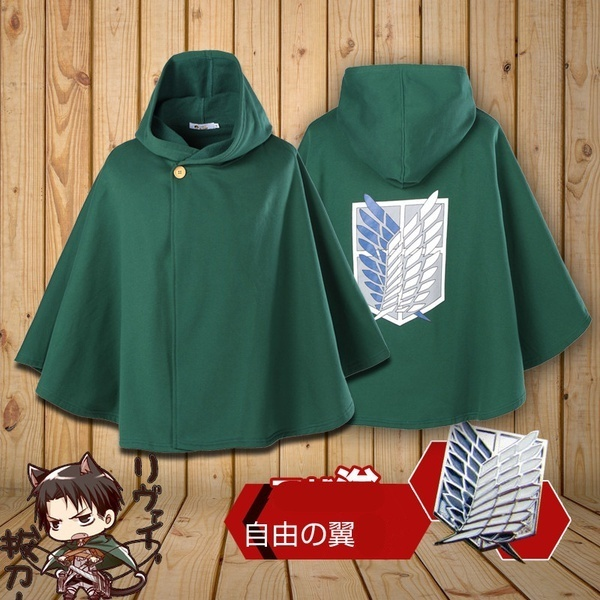 Attack On Titan Shingeki No Kyojin Hoodies Coat Men's Women's Hoodey Cloak Cape Anime Halloween Party Hoodies Cosplay Costume
